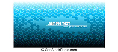 Abstract blue technical background made from hexagons