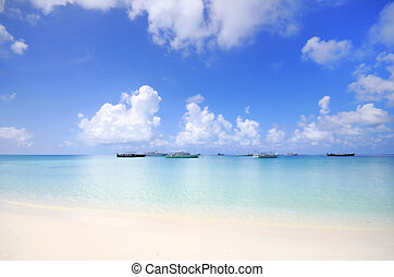 beach scene - Picture of beach scene at maldives.