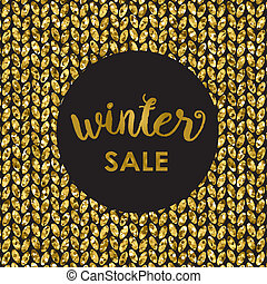 Gold glitter background with and text Sale - Gold glitter...
