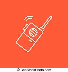 Portable radio set line icon - Portable radio set line icon...