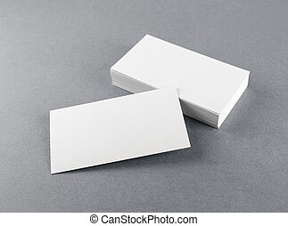 Blank white business cards - Photo of blank business cards...