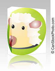 Sheep cartoon box package