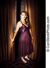 Beautiful Actress Posing At Premiere - Beautiful actress...