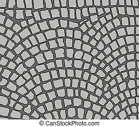 cobbles area - cobbles, area Vector illustration
