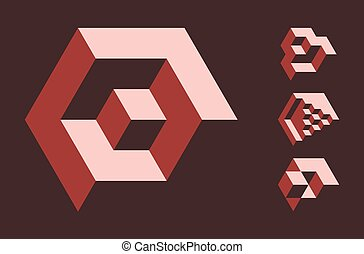 Cubic objects - Set of cubic objects, useful for corporate...