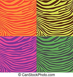 Zebra pattern - Colorful zebra stripes pattern, illustration