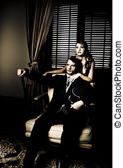 Filthy Rich Man And Woman - Opulent influential and...
