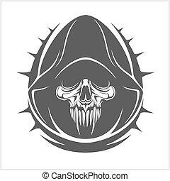 Vector Demon Skull isolated on white background