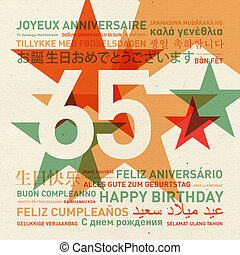 65th anniversary happy birthday card from the world - 65th...