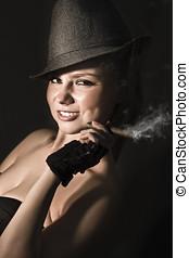 Fifties Broadway Dancer With Cigar