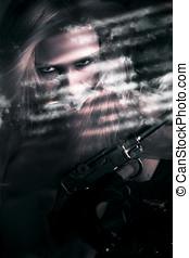Clandestine Secret Agent - Beautiful Woman Secret Agent...