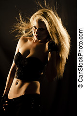 Cheerleading Dance Rehearsal Concept With A Gorgeous Blond...