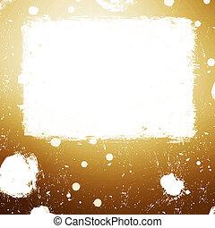 Golden splash banner illustration.