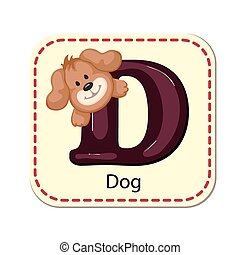 Illustration of isolated alphabet D