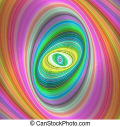 Abstract colorful elliptical geometric digital art...