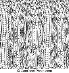Doodle background in vector with doodle ethnic pattern. -...