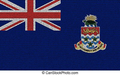 Flags Cayman Islands on denim texture Vector - Flags of...