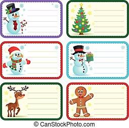 Christmas name tags collection 1