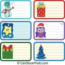 Christmas name tags collection 2