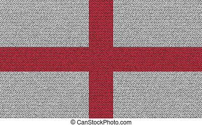 Flags England on denim texture Vector - Flags of England on...