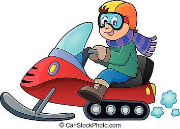 Snowmobile theme image 1 - eps10 vector illustration.