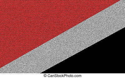 Flags Sealand Principality on denim texture. Vector - Flags...