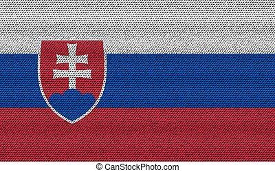 Flags Slovakia on denim texture Vector - Flags of Slovakia...