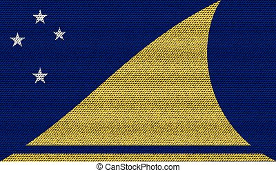 Flags Tokelau on denim texture Vector - Flags of Tokelau on...