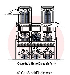 Notre-Dame de Paris Card in vector
