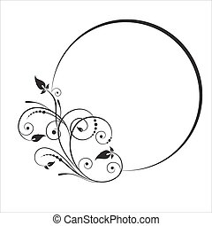 Decorative branch with oval frame.