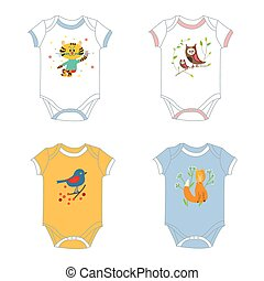 baby-garments - Baby clothes design set