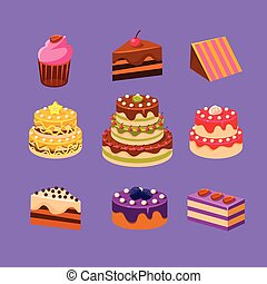 Cakes and Desserts Set
