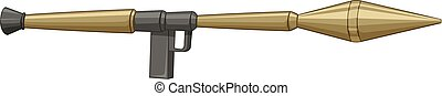 Single bazooka made of steel illustration