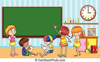 Children learning in the classroom