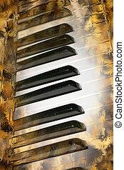 piano - abstract scene with keys of piano