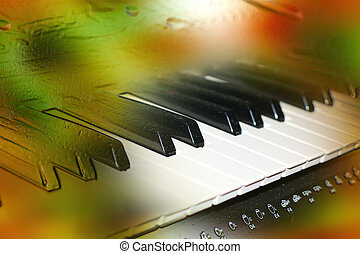 piano - abstract scene with keys of piano