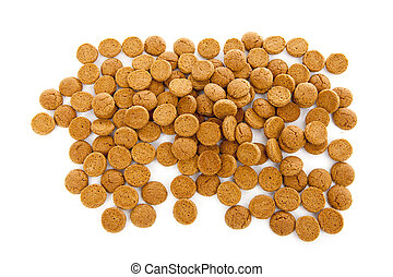 Typical Dutch sweets: pepernoten ginger nuts for...
