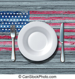 American Cuisine - American cuisine food concept as a place...