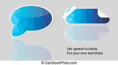 Vector polygon bubble speech