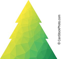Vector polygon christmas tree - Vector abstract polygon...