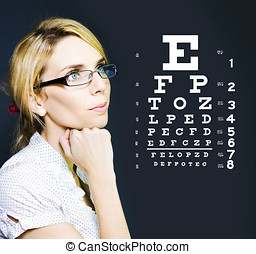 Optician Or Optometrist Wearing Eye Wear Glasses - Photo Of...