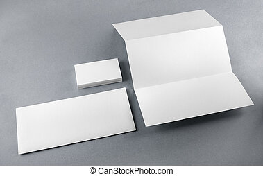 Blank corporate identity set on a table Mockup for design...