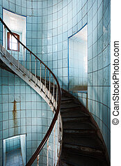 Indoor spiral staircase - Spiral staircase inside Coubre...