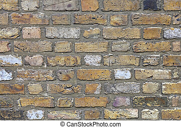London Yellow Brick - Classic London Yellow Brick Wall...