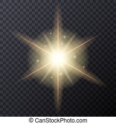 Light Color Glow Flare Star Effect Vector