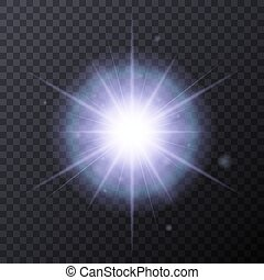 Light Color Glow Flare Star Effect. Vector