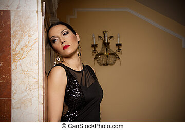 Glamour women in evening dresses - Beautiful and attractive...