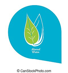 Mineral water - Isolated mineral water banner on a white...