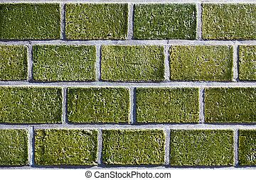 grön, mosaik