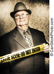 Astute fifties crime scene investigator - Artistically aged...